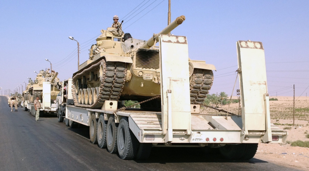 Egypt Increases Military Presence in the Sinai